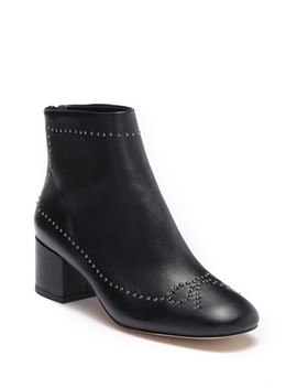 Cafne Bow Studded Leather Bootie by Donald Pliner