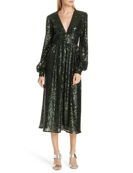 Camille Sequin Midi Dress by Saloni