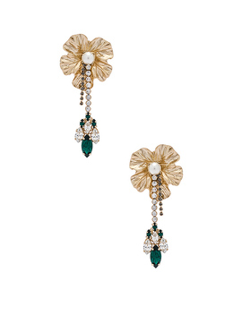 Dangly Flower With Pendant Earrings by Anton Heunis
