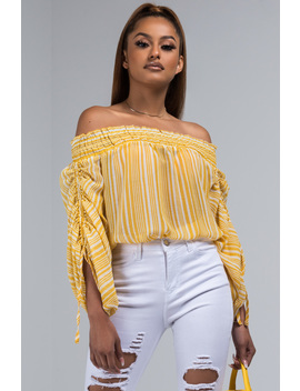 Lil Ray Of Sunshine Off Shoulder Blouse by Akira