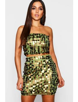 Sequin Bralet + Mini Skirt Co Ord by Boohoo