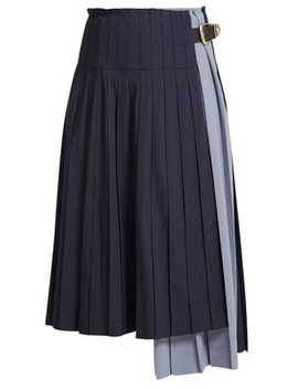 Pleated Wool Skirt by Toga
