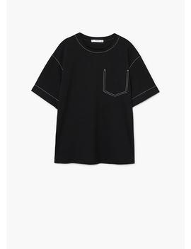 T Shirt Met Sierstiksels by Mango
