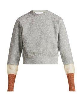 Metallic Striped Cuff Knit Sweater by Toga