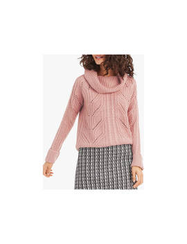 Oasis Heidi Cable Knit Roll Neck Jumper, Pale Pink by Oasis