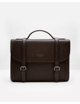 Raised Edge Leather Satchel by Ted Baker