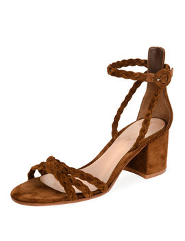 Braided Suede 60mm Sandal by Neiman Marcus