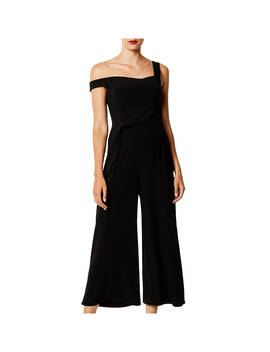 karen-millen-asymmetric-wide-leg-jumpsuit,-black by karen-millen