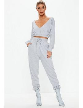 Grey Jogger Hoodie Co Ord Set by Missguided