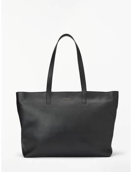 Modalu Tilda Leather Tote Bag, Black by Modalu