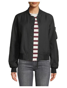 Bomber Jacket With Utility Sleeve by Helmut Lang