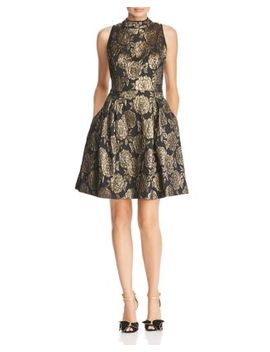 Metallic Floral Damask Dress by Nanette Nanette Lepore