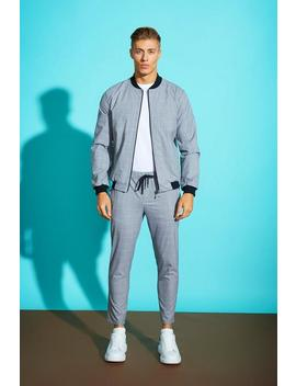Window Pane Check Smart Jogger by Boohoo