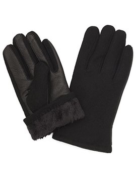 Benson & Brown Fleece Lined Wool & Leather Men's Winter Gloves by Benson & Brown