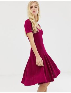 Asos Design Structured Dress With Seam Detail by Asos Design