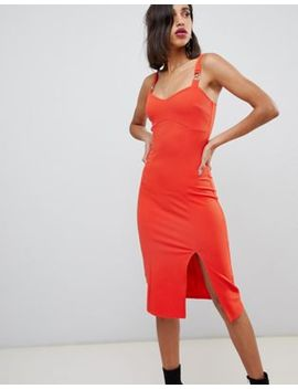 River Island Bodycon Mini Dress With Metal Trim In Red by River Island