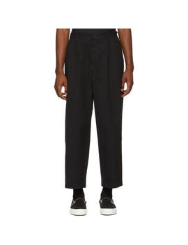 Pantalon En Sergé Noir by Comme Des GarÇons Homme