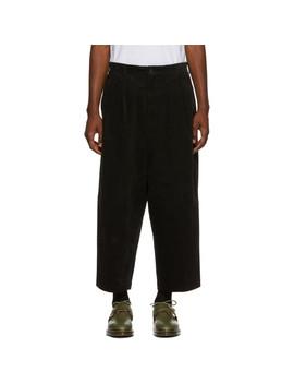 Pantalon à Jambe Ample En Velours Côtelé Noir by Comme Des GarÇons Homme