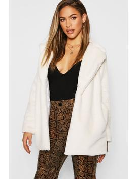 Soft Touch Faux Fur Coat by Boohoo