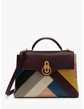 mulberry-small-seaton-smooth-calfs-leather-chevron-handbag,-multi by mulberry