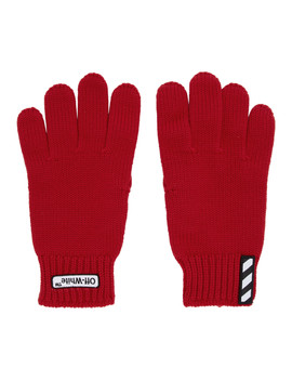 Red Patch Gloves by Off White