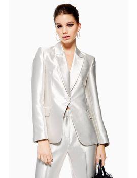 Satin Suit Jacket by Topshop