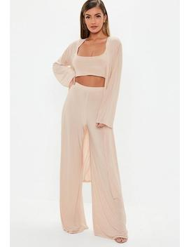 Blush Pink 3 Piece Co Ord Set by Missguided