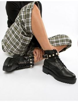 Asos Design Alfa Pearl Ankle Boots by Asos Design