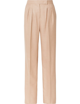 Camel Hair And Silk Blend Wide Leg Pants by Max Mara