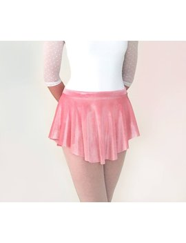 Pink Velvet Ballet Skirt   Girl's And Women's Sizes  Rose Stretch Velvet  Dance Gift  Sab Skirt by Etsy