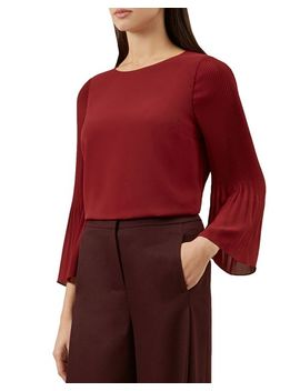 Juliana Pleated Sleeve Top by Hobbs London