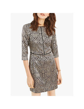 oasis-jacquard-shift-dress,-multi_black by oasis