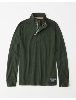 Heritage Mock Neck Shirt by Abercrombie & Fitch