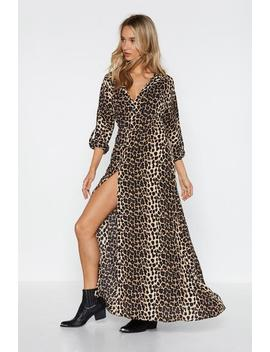 Let's Get Wild Leopard Maxi Dress by Nasty Gal