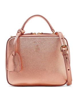 Baby Laura Metallic Textured Leather Shoulder Bag by Mark Cross