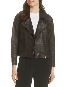 Leather Moto Jacket by Eileen Fisher