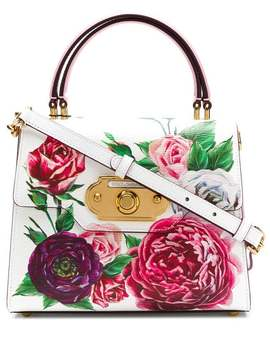 Welcome Floral Print Tote by Dolce & Gabbana