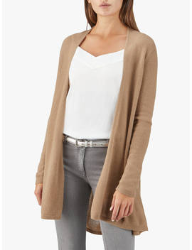 Pure Collection Gassato Cashmere Swing Cardigan, Soft Walnut by Pure Collection