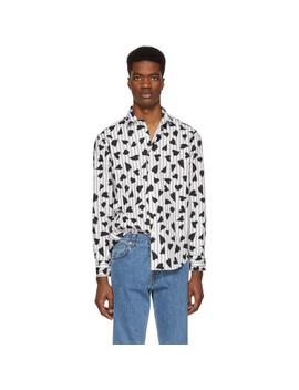 Black & White Heart Stripe Shirt by Jw Anderson