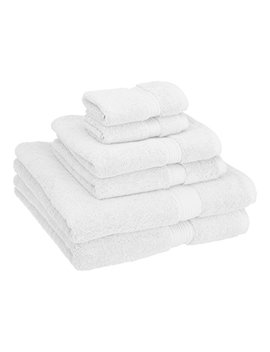 Superior 900 Gsm Luxury Bathroom 6 Piece Towel Set, Made Of 100 Percents Premium Long Staple Combed Cotton, 2 Hotel & Spa Quality Washcloths, 2 Hand Towels, And 2 Bath Towels   White by Superior