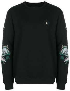 Embroidered Dragon Sweatshirt by John Richmond