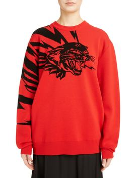 Tiger Wool Jacquard Sweater by Givenchy