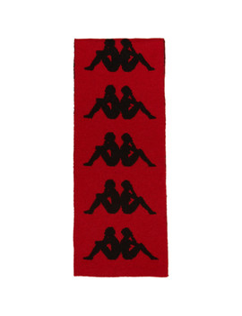Red & Black Kappa Edition Logo Scarf by Faith Connexion