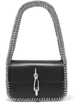 Hook Small Chain Trimmed Leather Shoulder Bag by Alexander Wang