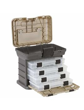 Plano Molding 1354 Stow N Go Tool Box With 4 23500 Series Stow Aways, Graphite Gray And Sandstone by Plano Molding