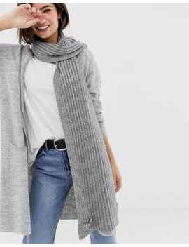 Oasis Knitted Scarf In Grey by Oasis
