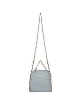 Blue Tiny Falabella Tote by Stella Mccartney