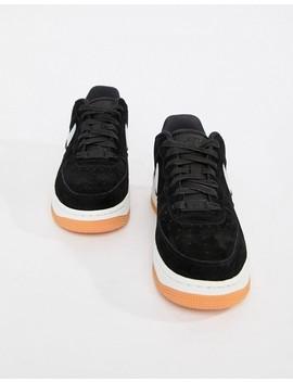 Nike Black Contrast Swoosh Air Force 1 Sneakers by Nike