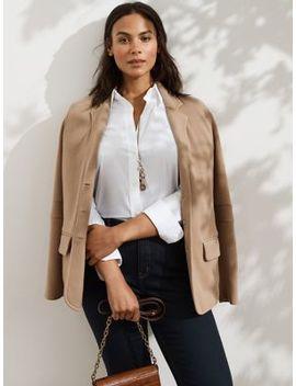 Plus Plus Classic Textured Blazer by Lauren Ralph Lauren