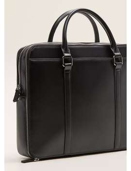 External Pocket Tote Briefcase by Mango
